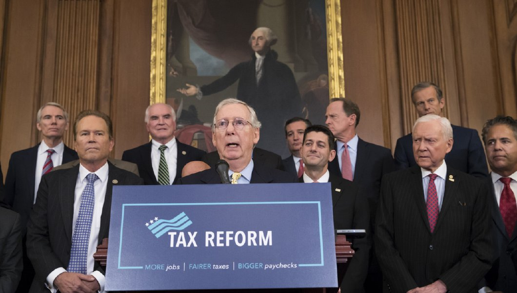 the senate congressional committee holds a press conference about the new tax reform bill